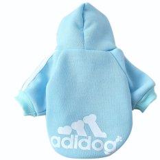Ulasan Mengenai Indah Lembut Hangat Boneka Anjing Peliharaan Pakaian Kulit Adidog Sweater On Bulu Mantel Hoodie Langit Biru S