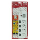 Jual Loyal Stop Kontak 4 Lubang Multi Tap Socket Kabel Sni 1 5 Meter Ly254 Import