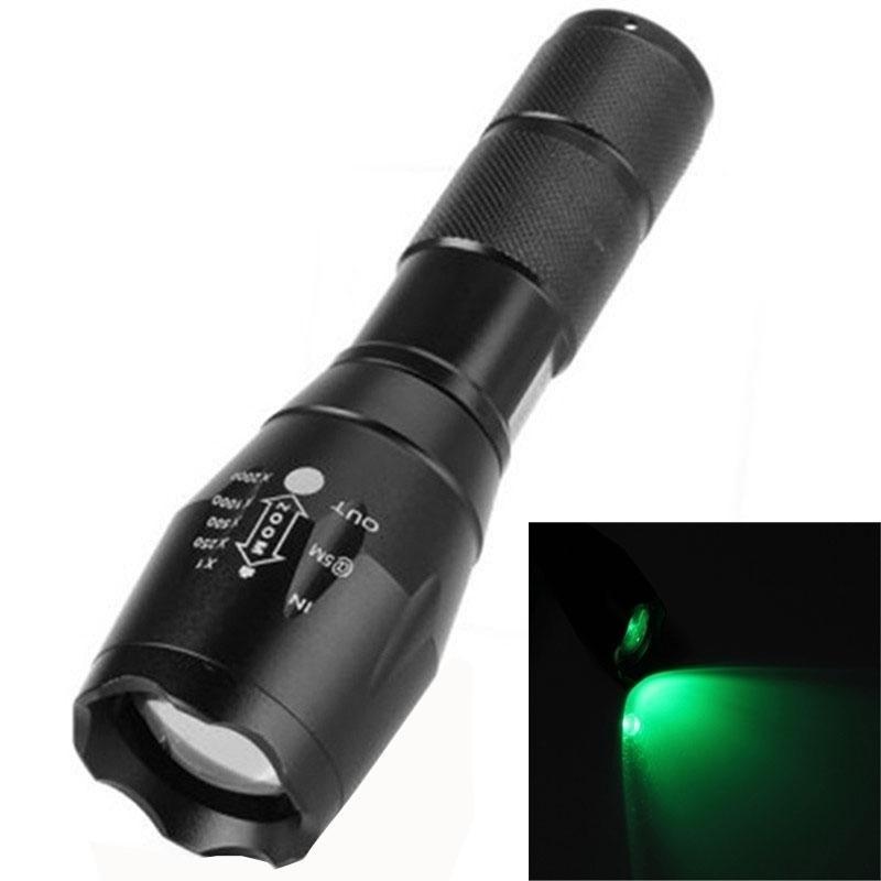 Beli Barang Lt A100 Cree Xm L Q5 1Xpe 5 Mode 500Lm Ipx4 Lampu Hijau Zoom Senter Hijau Intl Online