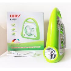 LUBY Emergency 3in1Kipas Senter Lampu LED