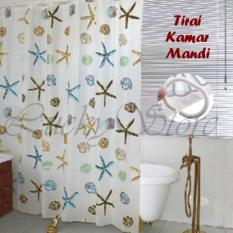 Lucky - Best Shower Curtain Tirai Motif Kamar Mandi 180 X 180 - Shower Curtain Circle By Luckystore.