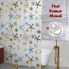 Lucky - Best Shower Curtain Tirai Motif Kamar Mandi 180 X 180 - Shower Curtain Circle By Luckystore