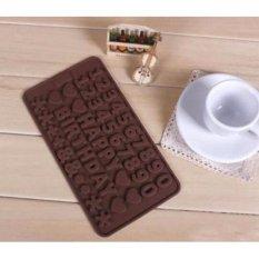 Lucky Cetakan Puding / Kue - Cetakan Silikon Happy Birthday Angka Coklat - Silicone Number