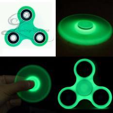 Lucky Glow In The Dark Fidget Spinner Hand Spinner Hand Toys Focus Games / Mainan Spiner Tangan Penghilang Kebiasan Buruk - Hijau