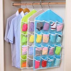 Lucky Storage Gantung 16 Kantong Hanger Organizer Underwear Pouch Korean - 1 Pcs