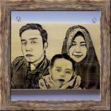 Toko Lukisan Kayu Bayar Ditempat Cod Custom Foto Dan Tulisan Kado Hadiah Ulang Tahun Dan Wisuda Unik Keren 20X30 Cm Black White Murah Di Riau