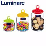 Jual Cepat Luminarc Rondo Jar Smile 5 75 1Ltr Set Of 3