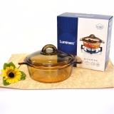 Jual Luminarc Vitro Amber Casserole Tutup 1 Liter Panci Masak Tahan Panas Branded