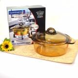 Spesifikasi Luminarc Vitro Amber Casserole Tutup 2 Liter Panci Masak Tahan Panas Bagus