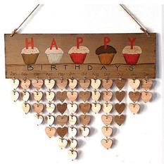 LumiParty Iman Family Friends Birthday Kalender Pengingat DIY Home Wall Hanging Dekorasi Gaya Furnitur: Ulang Tahun Berbentuk Hati