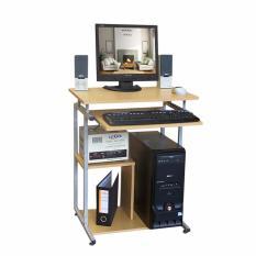 Lunar Meja Komputer Laptop + Rak Bawah H904 - Beech - Jabodetabek only