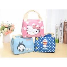 Lunch Bag - Lunch Bag Cooler Bag - Tas Bekel Makanan Karakter Cute - Random