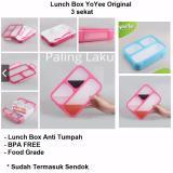 Harga Lunch Box Anti Tumpah Kotak Makan Yooyee 3 Sekat 579