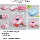 Jual Lunch Box Anti Tumpah Kotak Makan Yooyee 3 Sekat 579 Lengkap