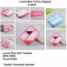 Lunch Box Anti Tumpah Kotak Makan Yooyee 3 Sekat 579 Diskon Akhir Tahun