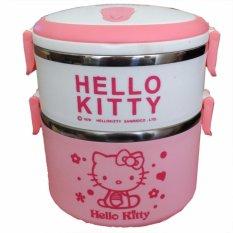 Spek Lunch Box Karakter Hello Kitty 2 Susun Rantang Kotak Makan Bekal Lunch Box