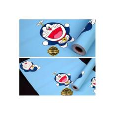 Spesifikasi Lux Wallpaper Sticker Premium Quality Biru Langit Doraemon Lengkap
