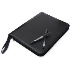 Spesifikasi Luxury Black Fountain Pen Roller Pensil Pu Leather Case Kotak 332X250X25Mm Untuk 48 Pena Intl Merk Oem