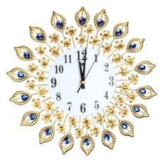 Luxury Diamond Dinding Besar Jam Logam Ruang Tamu Wall Clock-Intl