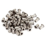 M5X13Mm Stainless Steel Flat Head Blind Rivet Nut Sisipkan Nutsert 50 Pcs Murah