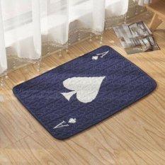 Mesin Cuci Dicuci Lantai Karpet Anti-slip Cotton Kids Room Mat Modern Dicetak Karpet untuk Kamar Tidur 50*50 CM-Intl