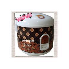 Magic Com Rice Cooker Miyako 1,8 Liter, MCM-528 Batik.(KHUSUS GOJEK).