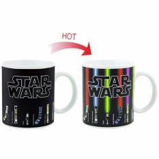Situs Review Magic Mug Cangkir Sensitif Suhu Motif Lightsaber Star Wars Black