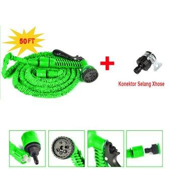 Promo Magic X-hose Auto Expandable 15 m - Selang Air Fleksibel Bundling Universal Konektor