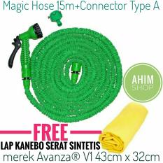 Magic X-Hose Auto Expandable 15m/50ft Selang Elastis + Connector Type A +