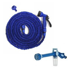 Magic X-Hose Auto Expandable 7.5 m with Connector Type A - Selang Air Fleksibel - Biru + Ez Jet Water Canon