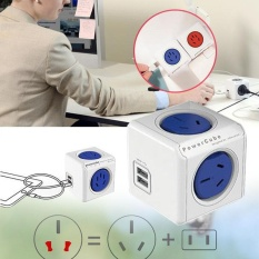 MagicWorldmall Ready Stock PowerCube Multiple Power Socket Travel Plugs Outlet Adapter Electrical Fittings - intl