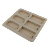 Toko Magideal 6Cavity Silicone Aroma Wax Tablet Mold Wax Soap Candle Mould Rectangle Round Intl Tiongkok
