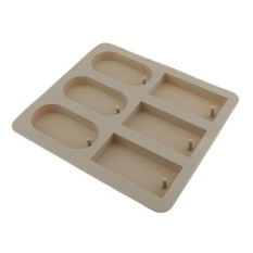 Toko Magideal 6Cavity Silicone Aroma Wax Tablet Mold Wax Soap Candle Mould Rectangle Round Intl Terlengkap