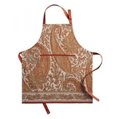 Maison d Hermine Kashmir Paisley 100% Cotton Apron with an adjustable neck & hidden center pocket , 27.50 - inch by 31.50 - inch. Perfect for Thanksgiving and Christmas