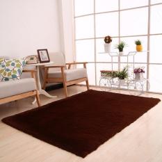 Makiyo 50*80 Cm Lembut Mewah Shag Karpet Non-slip Rectangle Permadani Alas Rumah Dekor-Internasional