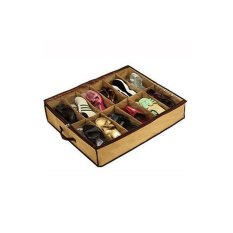 M & C Bingkai Transparan Cover Non-woven Penyimpanan Kotak Sepatu Warna Seperti Gambar Drop Pengiriman HG-1829-KK Khaki -Intl