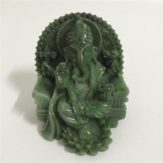 Buatan Manusia Jade Kerajinan Batu Ganesha Elephant God Buddha Patung Patung Dekorasi Rumah Hadiah-Intl