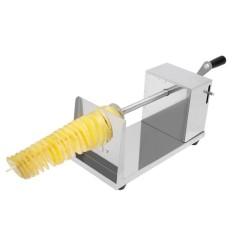 Manual Spiral Kentang Menara Crane Tangan Shake Potato Putar Spiral Keripik Twister Slicer Pemotong Tornado Membuat Mesin-Internasional