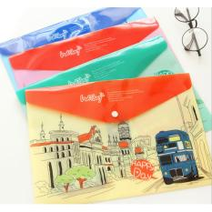 Map A4 Plastik Holiday London Bus - 1 Pcs