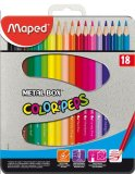 Spesifikasi Maped Color Pep S Metal Box Set 18 Baru