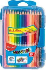 Maped Smart Box For Colour Pencils Set 12 3 Fluo Maped Diskon 40