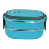 Marco Square 2 Layers 1480Ml S S Lunch Box Kotak Makan Biru Marco Murah Di Indonesia