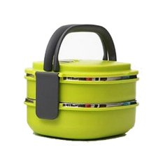 Review Marco Square 2 Layers 1480Ml S S Lunch Box Green