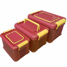 Maspion Box master serbaguna set - isi 3 pcs - Pink