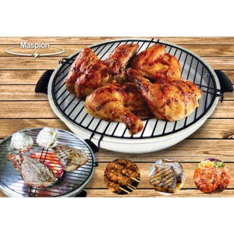 MASPION Fancy Grill Alat Pemanggang Serbaguna Fancy Grill / BarBeQue tanpa Arang 33 cm