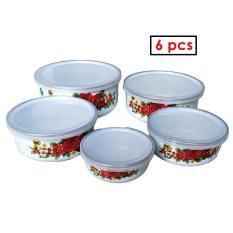 Beli Maspion Mangkuk Mixing Bowl 5Pcs Porcelain Enamel Tutup Rantang Susun 5 Enamel Terbaru