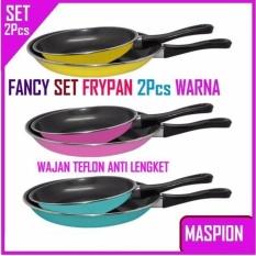 Jual Maspion Teflon Frypan Set Biru Blue 2Pcs 18Cm 23Cm Berkualitas Original
