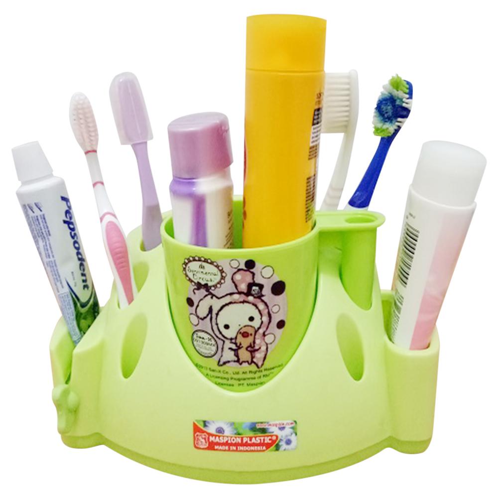 Maspion Tempat sikat gigi dan alat mandi keluarga serbaguna - hijau