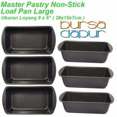 Spesifikasi Master Pastry Non Stick Loaf Pan Large 9X 5 Loyang Persegi 6 Pcs Paling Bagus