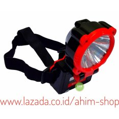 Diskon Matsugi Lampu Senter Kepala 2In1 Lighting 2W Led Mg 3335 Hitam Merah